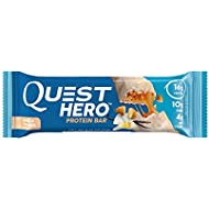 Quest Nutrition Hero Protein Bar, Vanilla Caramel, 16g Protein, 10g Fiber, 4g Net Carbs, 180 Cals, Low Carb, Gluten Free, Soy Free, 2.12oz Bar, 10 Count