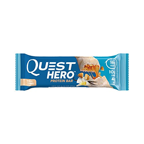 Caramel Cereal (Quest Nutrition Hero Protein Bar, Vanilla Caramel, Gluten Free, 2.12 oz (10 Count))