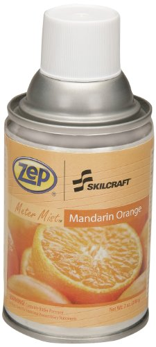 Price comparison product image SKILCRAFT 6840-01-459-8263 Zep Meter Mist Refill Air Freshener Aerosol Can,  Mandarin Orange (Pack of 12)