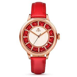 Women's Quartz Watch, Timweis Women Leather Waterproof Fashion Casual Watch