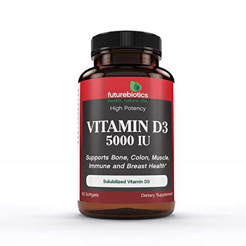 Futurebiotics Vitamin D3 5000 IU, 90 Softgels
