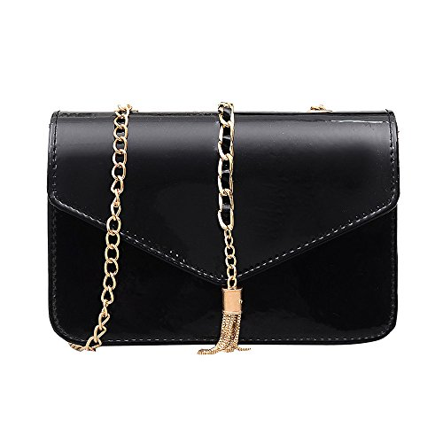 Shoulder Bag,Robemon Handbag Crossbody Messenger Satchel Fashion Casual Women Vintage Ladies Small Clutches Chain Black D
