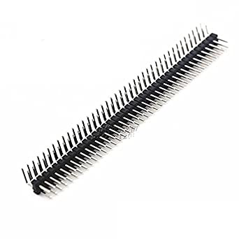 50PCS 2.54mm 2 x 40 Pin Male Double Row Right Angle Pin Header Strip High qualit