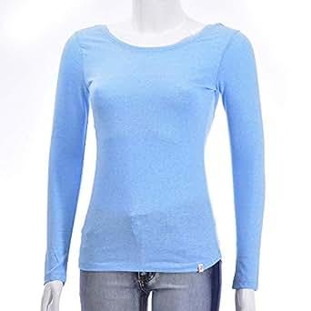 NEXGEN FEMME Sky Blue Round Neck T-Shirt For Women