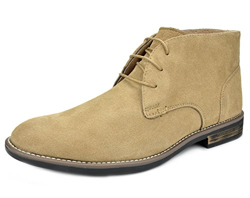 Bruno Marc Men's URBAN-01 Sand Suede Leather Lace Up Oxfords Desert Boots Size 8.5 M US