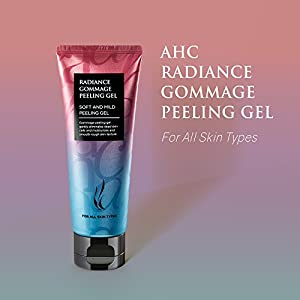 A.H.C. Radiance Gommage Peeling Gel, Korean Exfoliating Cleanser, Soft and Mild for Rough, Dry and Sensitive Skin - 3.38oz (100ml)