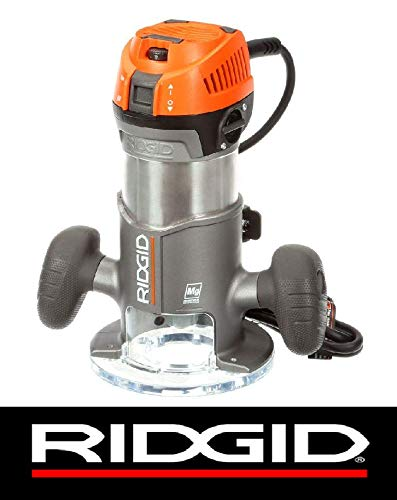 "Ridgid 11-Amp 2 Peak Hp 1/2"" Corded Variable Fixed Base Rout"
