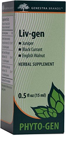 Genestra Brands – Liv-gen – Juniper, Black Currant, and English Walnut Herbal Supplement – 0.5 fl oz (15 ml)