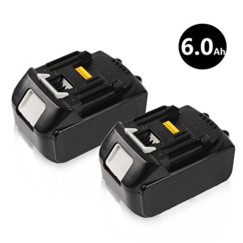 [Upgraded] 18V 6.0Ah LXT Lithium-Ion Battery Replacement for Makita BL1860-2 BL1830 BL1840 BL1850 LXT-400 Cordless Power Tools - 2Pack by Enegitech
