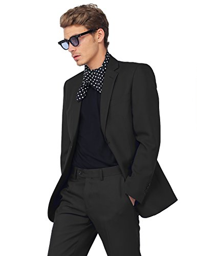 Style by William SBW Men's Classic Slim Fit 2 Pcs Suit Blazer and Slacks free shipping