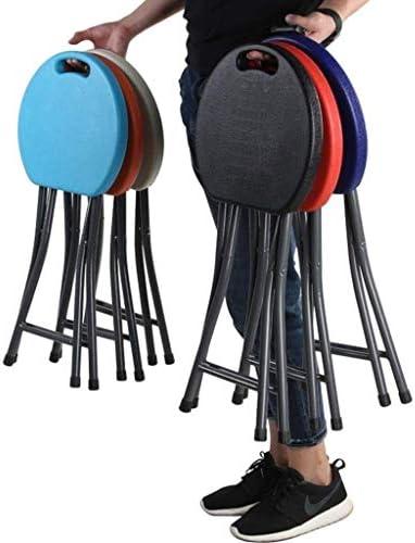 NIHAOA Chaise Pliante en Plastique Tabouret Ronde de ménage Pliant rembourré Chaise Haute Pliante Petit déjeuner Cuisine Tabouret Doux Siège, 46 * 33cm (Color : -)