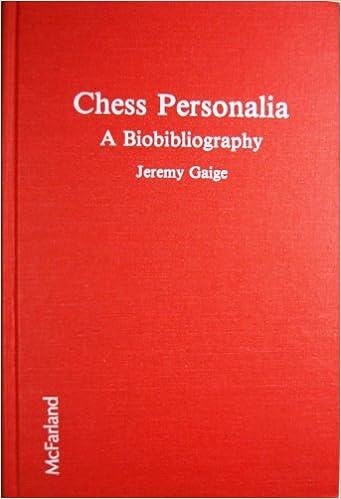 Chess Personalia: A Bio-bibliography