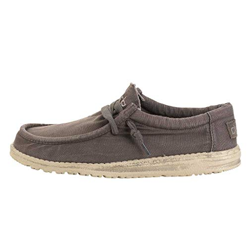 Hey Dude Men's Wally Washed Mud, Size 10