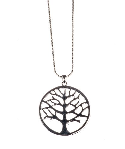 Indie Hipster (Indie Hipster Long Chain Necklace With Tree Pendant by Shagwear)