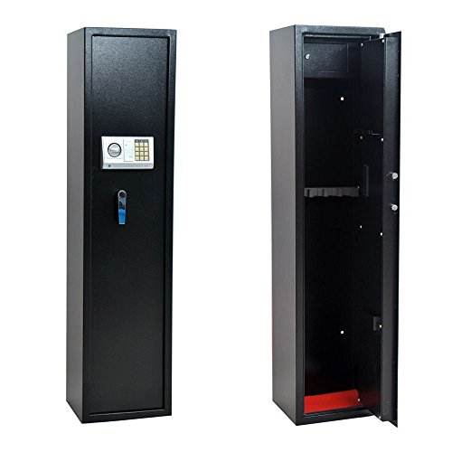 Homegear 5 Rifle Electronic Gun Safe with Internal Jewelry/Valuables Lockbox