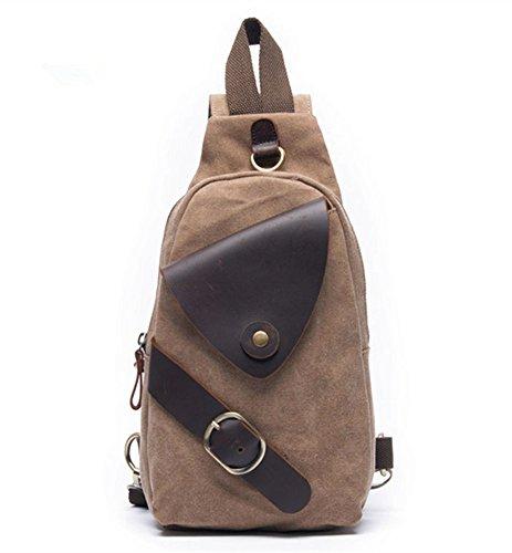 Drf Canvas Sling Bag Small Backpack Purse Vintage Fit Ipad Bg 01  Khaki