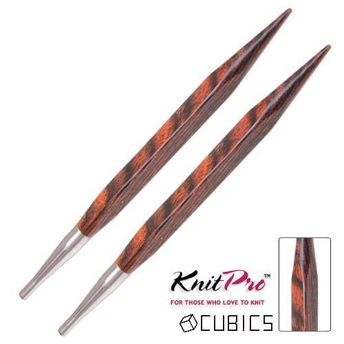 KnitPro Symfonie Cubics Wood Interchangeable Knitting Needle Tips - 4mm