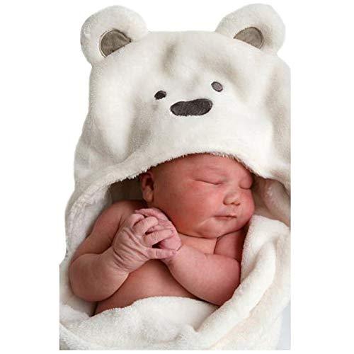 lutowio Coral Fleece Baby Serviette de Bain Enfant Capuche Baby Towel Peignoir Cape Mignon Animal Forme B/éb/é R/éception Couverture Neonatal Hold to Be 1