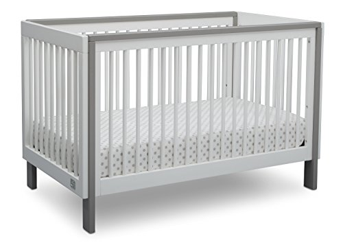 Serta Fremont 3-in-1 Convertible Baby Crib, Bianca White with Grey Review