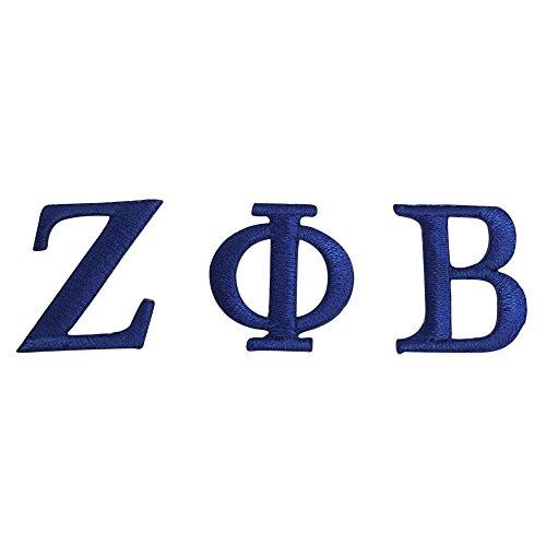 G1707 Zeta Phi Beta Sorority Royal Letter Set Emblem Patch 1