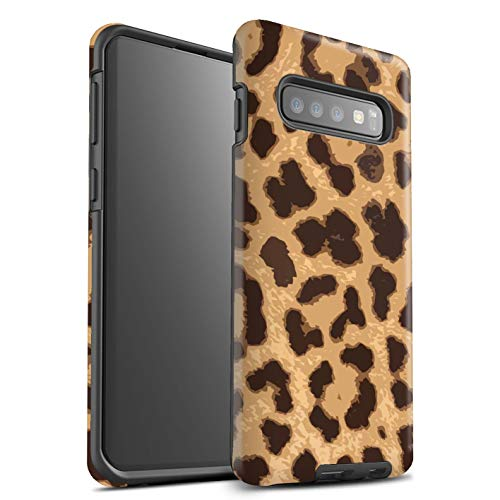 eSwish Matte Tough Shock Proof Phone Case for Samsung Galaxy S10 Plus/Leopard/Cheetah Design/Fashion Animal Print Pattern Collection