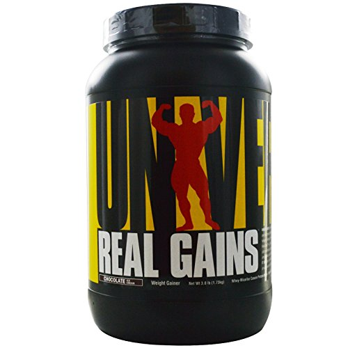 Universal Nutrition, Real Gains, Weight Gainer, Chocolate Ice Cream, 3.8 lb (1.73 kg) - 2pc