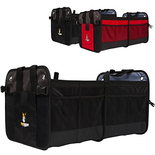 Premium Auto Trunk Organizer-Car Organizer by Tuff Viking with Extra 11 Pockets,Removable Divider,Expandable side pockets,Collapsible, Reinforced Bottom, and Waterproof Interior(Black) (Large Truck Bed Tool Box compare prices)
