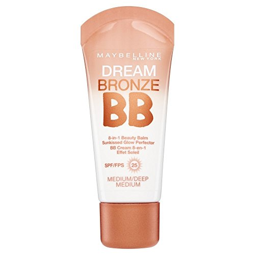 2 x Maybelline Dream Bronze BB 8 in 1 Beauty Balm SPF25 30ml - Medium Deep/Dark ()