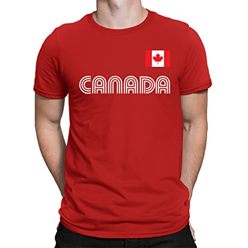 Canada Soccer Pride T-shirt - SpiritForged Apparel Canada Soccer Jersey Men's T-Shirt, Red Large