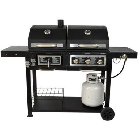 Portable Dual Fuel Combination Charcoal/Gas Barbecue ...
