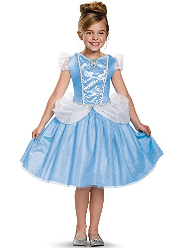 Halloween Costumes Cinderella (Cinderella Classic Disney Princess Cinderella Costume, X-Small/3T-4T)
