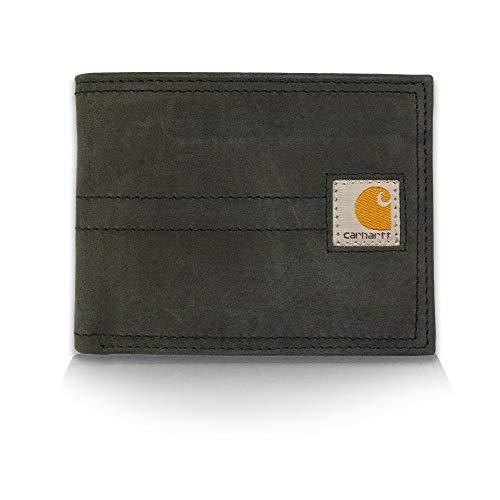 Carhartt Men's Billfold Wallet, legacy black, One Size