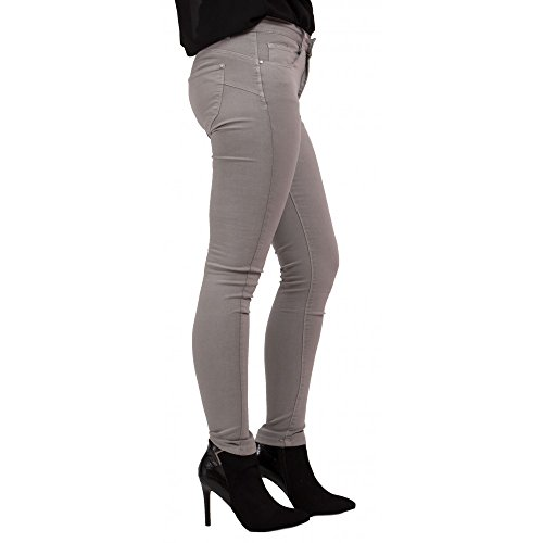 Haute Jean Stretch Gris Femme Slim Taille Primtex Gris Clair Coupe w1AYTgqgx