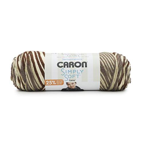 Caron Simply Soft Yarn (4) Medium Worsted Gauge 100% Acrylic - 5oz - Woodland Camo -  Machine Wash & - Acrylic Woodland Green