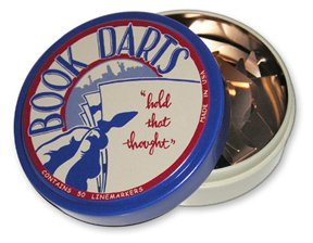 Book Darts Line Markers 50 Count Tin Mixed Metals by Book Darts