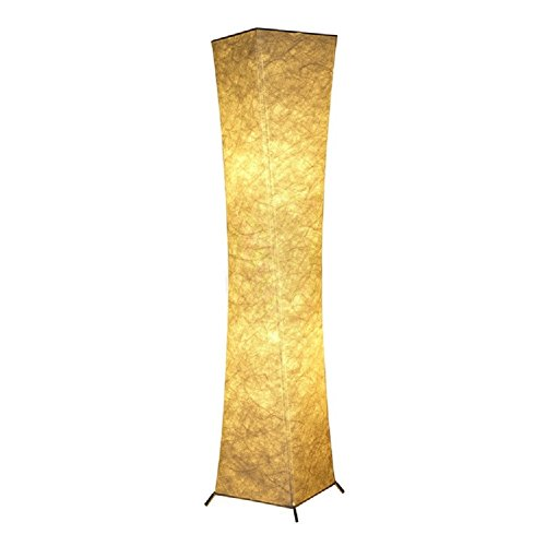 Chuangke Bedroom Soft Lighting Lamp White Fabric Floor Lamp with Yellow Soft Light Standing Lamp