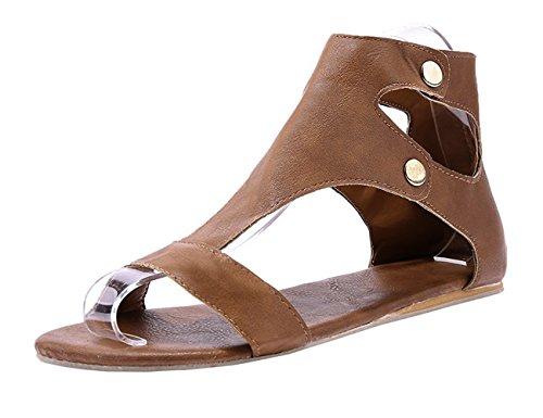 Women's Open Casual Flat Beach Summer Toe 02yellow Freashine Slipper Sandals UdnxFwtq