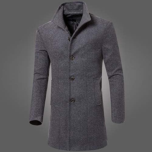 ARTFFEL Men Winter Round Neck Zipper Thermal Thicken Down Coat Jacket Overcoat
