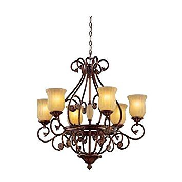 Freemont Collection 6-light Hanging Antique Bronze Chandelier by Hampton Bay