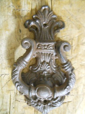 JTW-Cast iron Antique Style VICTORIAN SCROLL Hammer Door Knocker 7.5