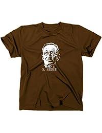 Hermann Hesse T-Shirt, Siddharta, unterm rad, steppenwolf, demian, XXL, braun