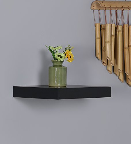 Driftingwood Set Top Box/TV Floating Wall Shelves Rack   Black