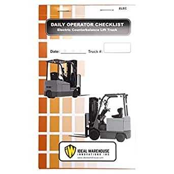 Replacement Checklist Electric Stacker 5 Units