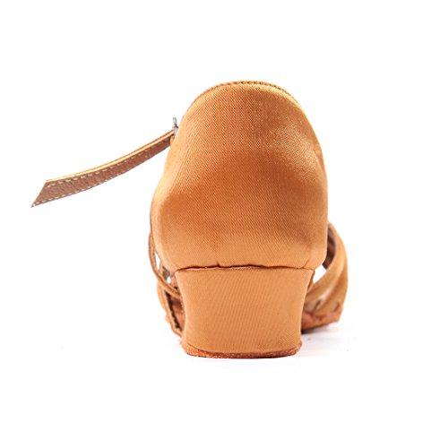 DoGeek 7cm Women Latin for Shoes Latin Dance Girls Shoes Dance Modern Chacha Latin Mid Shoes Heel Samba 2 r04rxRgw