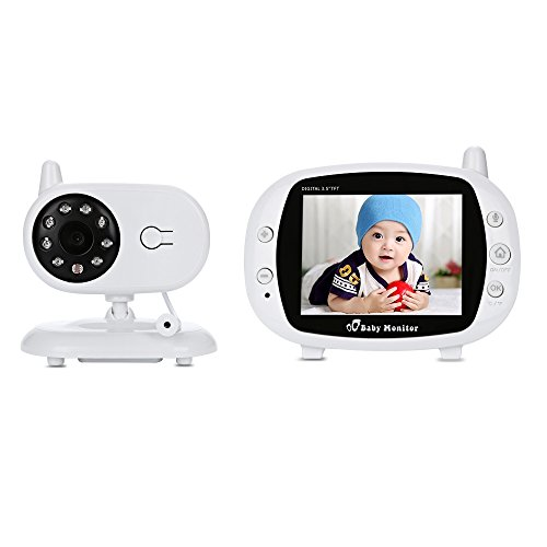 wireless baby monitor 2 way audio tft lcd video infrared night vision 3 5 inch baby video. Black Bedroom Furniture Sets. Home Design Ideas