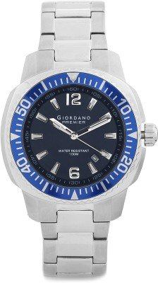 Giordano Analog Blue Dial Men's Watch - P157-33 Men's Watches at amazon