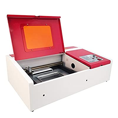 """Orion Motor Tech 12""""x 8"""" 40W CO2 Laser Engraving Machine Engraver Cutter with Exhaust Fan USB Port from Orion Motor Tech"""