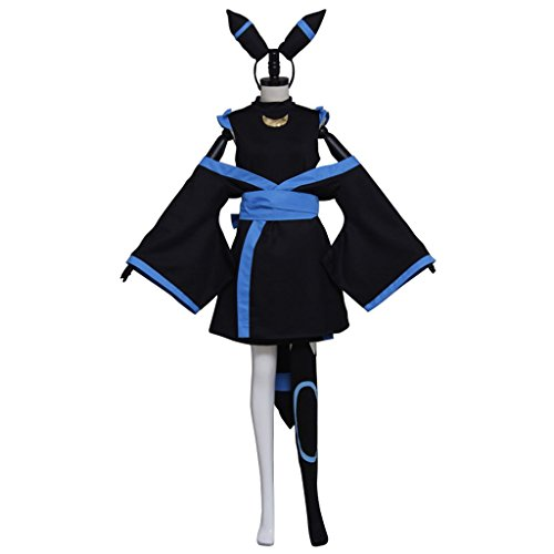 (CosplayDiy Women's Costume Dress for Pokemon Umbreon Halloween Cosplay)