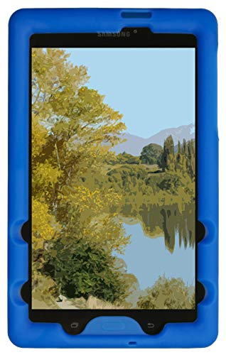 BobjGear Bobj Rugged Case for Samsung Galaxy Tab E 8.0 (SM-T375, SM-T377, SM-T378) Custom Fit - Patented Venting - Sound Amplification - BobjBounces Kid Friendly (Batfish -