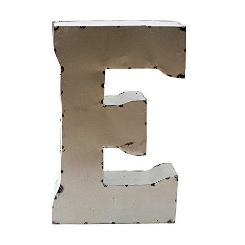 Rustic Arrow Letter E for Decor, 14-Inch, Silver